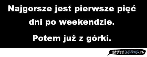 po weekendzie