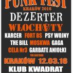 Punk Fest 2016 w Krakowie - zespoły i bilety na festiwal. Sprawdźcie szczegóły wydarzenia