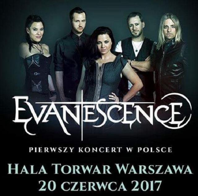 EVANESCENCE W POLSCE 2017 w artykule EVANESCENCE W POLSCE 2017: DATA, MIEJSCE, BILETY