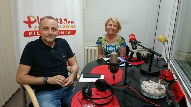 Barbara Cynowska (kierownik osiedla Majowe SM Dąb), Marcin Biskupski (radny Szczecina)