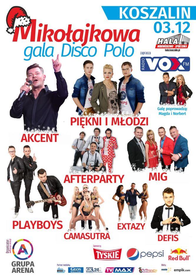 Mikołajkowa Gala Disco Polo w Koszalinie